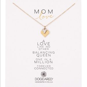 """Dogeared """"Mom Love"""" Double Heart Charm Necklace"""